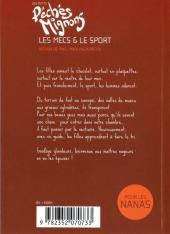 Verso de Péchés mignons (Les petits) -3- Les mecs & le sport