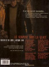 Verso de Secrets - Le serpent sous la glace -1b- Tome 1