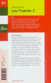 Verso de Les frustrés -2Librio- Les Frustrés-2