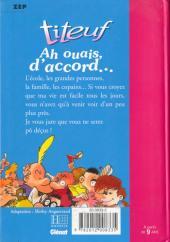 Verso de Titeuf (Bibliothèque Rose) -91179- Ah ouais, d'accord...
