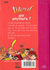 Verso de Titeuf (Bibliothèque Rose) -101180- Au secours !
