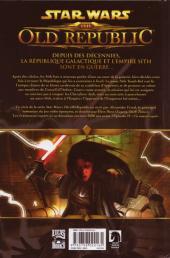 Verso de Star Wars - The Old Republic (Delcourt) -1- Le Sang de l'Empire