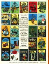 Verso de Tintin (Historique) -15C5- Tintin au pays de l'or Noir