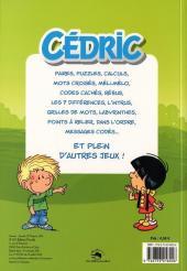 Verso de Cédric -J5- 100 jeux avec solutions