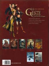 Verso de La geste des Chevaliers Dragons -2a2008- Akanah