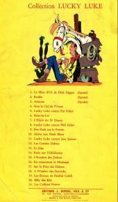 Verso de Lucky Luke -17a64- Sur la piste des Dalton