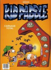 Verso de Kid Paddle -INTFL1- Jeux de vilains / Carnage total