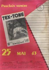 Verso de Tex-Tone -145- Trafic d'armes à Pleasant Junction