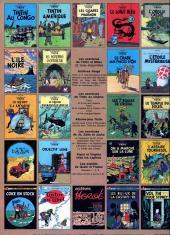 Verso de Tintin (Historique) -14C1- Le temple du soleil