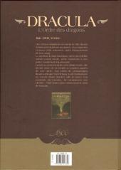 Verso de Dracula - L'Ordre des dragons -1- L'Enfance d'un monstre