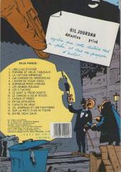 Verso de Gil Jourdan -4c1987- Les cargos du crépuscule