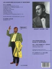Verso de Blake et Mortimer (Les Aventures de) -11b2001- Les 3 formules du Professeur Satô - Tome 1