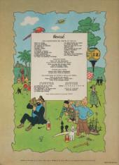 Verso de Tintin (Historique) -4B42- Les cigares du pharaon