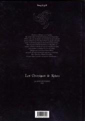 Verso de Les chroniques de Katura - La légende d'Eikos -2- Réveil dans la nuit