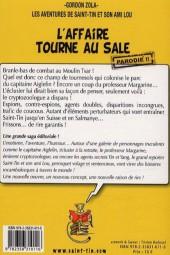 Verso de Les aventures de Saint-Tin et son ami Lou -8- L'affaire tourne au sale