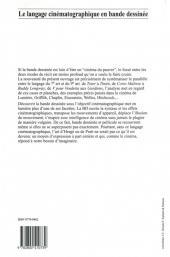 Verso de (DOC) Études et essais divers - Le langage cinématographique en bande dessinée