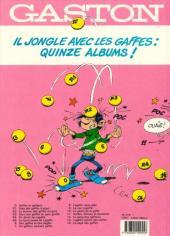Verso de Gaston -14a1989- La saga des gaffes