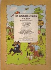 Verso de Tintin (Historique) -7B04- L'île noire