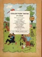 Verso de Tintin (Historique) -7B02- L'île noire