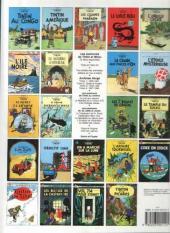 Verso de Tintin (Historique) -15C8- Tintin au pays de l'or Noir