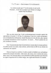 Verso de (AUT) Duchâteau - 7 à 77 ans, souvenirs d'un scénariste