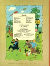 Verso de Tintin (Historique) -14B42- Le temple du soleil
