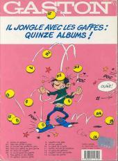 Verso de Gaston -12ES1- Le gang des gaffeurs