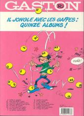 Verso de Gaston -R5a- Le lourd passé de Lagaffe