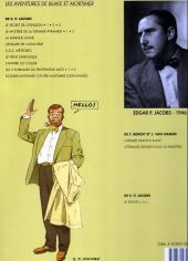 Verso de Blake et Mortimer (Les Aventures de) -3b1996- Le Secret de l'Espadon - Tome 3