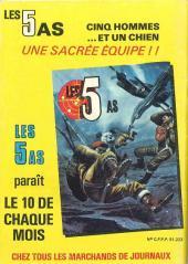 Verso de Rapaces (Impéria) -410- L'as de pique - Les vengeurs