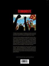 Verso de Terroriste -3- Genève : Jeu de dupes...?