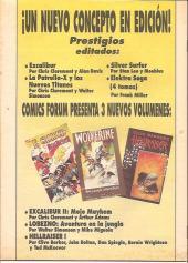 Verso de Comics de El Sol (Los) -3- Excalibur