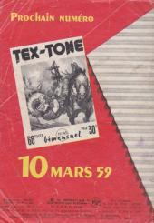 Verso de Tex-Tone -44- La bande du Rio Grande