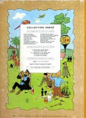 Verso de Tintin (Historique) -14B22bis- Le temple du soleil