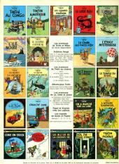 Verso de Tintin (Historique) -6C2- L'oreille cassée