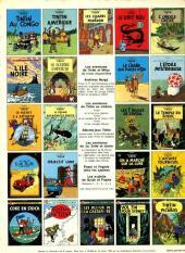 Verso de Tintin (Historique) -11C2- Le Secret de la Licorne