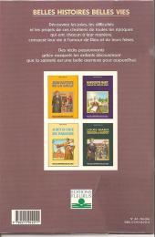 Verso de Belles histoires et belles vies -44- Nicolas, la belle légende
