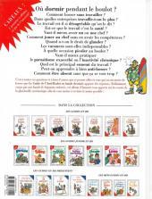 Verso de Le guide -15a09- Le guide de l'anti-boulot