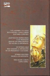 Verso de Héroes Marvel: Tomos Únicos - Marvels
