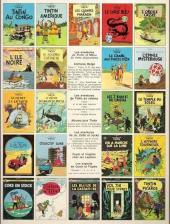 Verso de Tintin (Historique) -14C3- Le temple du soleil
