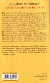 Verso de Tintin - Divers -b- Les Métamorphoses de Tintin
