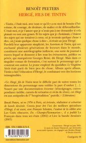 Verso de (AUT) Hergé -4a- Hergé fils de Tintin