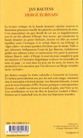 Verso de (AUT) Hergé -66a- Hergé écrivain