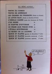 Verso de Tintin (Historique) -13TL1- Les 7 boules de cristal