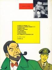 Verso de Blake et Mortimer (Historique) -1b77- Le Secret de l'Espadon - Tome I - La Poursuite fantastique
