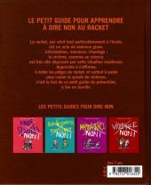 Verso de Les petits guides pour dire non -1- Racket non !