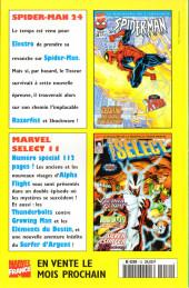 Verso de Marvel Select -10- Flashback