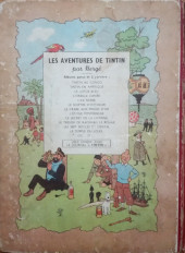 Verso de Tintin (Historique) -3B03- Tintin en amérique