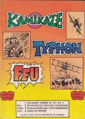 Verso de Kamikaze (Arédit) -4- Prodigieux Kiwi