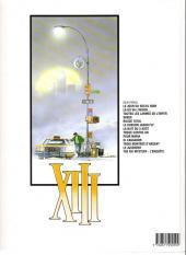 Verso de XIII -6a1999- Le dossier Jason Fly